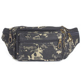 Mens Canvas Camo Fanny Pack Pocket Pouch Purse Belt Camping Waist Bag