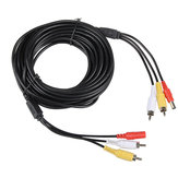 2RCA + Power Audio Video Extension Cable Wire for Security Camera