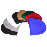 Fashion Casual Unisex Solid Color Soft Plain Ski Knit Beanie Hat