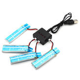 4 x WLtoys V977 V930 3.7V XK K110 520MAH Upgrade Lipo Battery With Charger