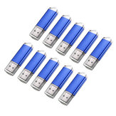 10 x 128 MB USB 2.0 Flash Drift Candy Blue Memory Storage Thumb U Disk