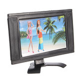 Plastic Speelgoed Flat Screen Meubilair Voor Dollhouse Afneembare LCD TV Televi