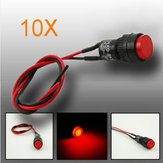 10pcs 10mm Universal LED Indicator Dash Panel Warning Light Lamp