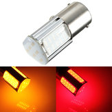 1156 G18 Ba15s 4 COB LED Turn Rear Light Car Bulb Red Yellow