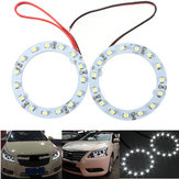 Para 60mm Biały samochód Angel Eyes Lights Head Light Halo Ring Lights 15 LEDs SMD Chip