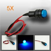 5X10mm Universal LED Indicator Dash Panel Warning Light Lamp