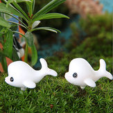 DIY Miniature Lovely Dolphin Ornaments Potted Plant Garden Decor