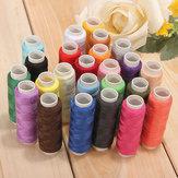 Accessoires de machine à coudre de bobines de fil de couture de coton de 24 couleurs