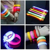Running Gear Gloeiende LED Wrist Band Lights Flash Nylon Manchet Armband