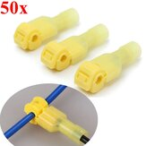 Excellway® TC01 50pcs Yellow Quick Splice Wire Terminal Female Spade Connector Set