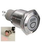 Botão interruptor LED interruptor de auto bloqueio 12v 16 milímetros para carros interruptor à prova d'água