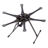 S550 Hexacopter Frame Kit RC Drone FPV Racing Multi Rotor met geïntegreerde PCB 550 mm zwart