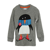 2015 New Little Maven Lovely Penguin Baby Children Boy Cotton Top z długim rękawem