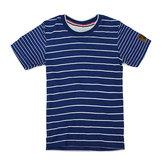 2015 New Little Maven Niebieski, biały, bawełniany, dziecięcy chłopięcy bawełniany t-shirt z krótkim rękawem