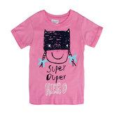 2015 nouveaux bébé d'été fillettes coton rose t-shirt à manches courtes