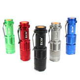 MECO CREE Q5 500LM Multicolore Zoommabile Mini Torcia LED 14500 / AA