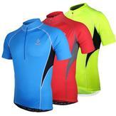 La manche courte d'hommes d'arsuxeo allant à vélo le jersey de bicyclette de vélo de jersey vêtements sportifs en plein air