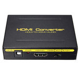 5.1CH 1080P HD do HD SPDIF Konwerter RCA L / R Audio Splitter Extractor