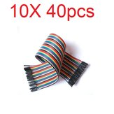 10X40 szt. 30 cm kabel żeński do żeńskiego Breadboard Cable Jump Wire Jumper Do modeli RC