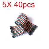 5X40pcs 30cm Female to Female Color Breadboard Cable Jump Wire Jumper For RC Models
