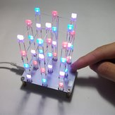 Geekcreit® DIY C51 Touch Control 3x3x4 Kleur LED Light Cube Kit