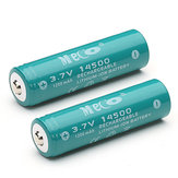 2pcs MECO 3.7V 1200mAh recarregável 14500 Li-ion Bateria