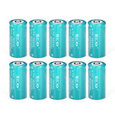 Batería de ion de litio cr123a/16340 10pcs meco 3.7v 1200mah reachargeable