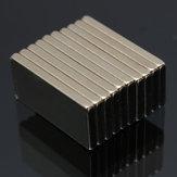 10pcs n52 20x10x2mm bloque de la tierra rara del neodimio imanes