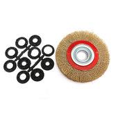 6 pouces brosse de roue de fil d'acier de 150 mm et adaptateur anneaux pour meuleuse à ongles propres