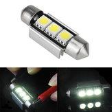 39 millimetri 5050 errore canbus 3SMD libero auto doppio forma bianco LED lampadina