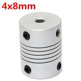 Conector de engate od19mm x l25mm cnc motor de passo acoplamento do eixo flexível 4 milímetros x 8 milímetros de alumínio