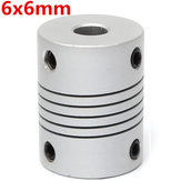 6mm x 6mm Aluminum Flexible Shaft Coupling OD19mm x L25mm CNC Stepper Motor Coupler Connector