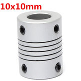 10mm x  10mm Aluminum Flexible Shaft Coupling OD19mm x L25mm CNC Stepper Motor Coupler Connector