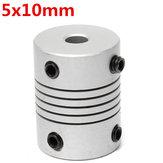 5 ملليمتر x 10 ملليمتر الألومنيوم مرنة رمح اقتران OD19mm x l25mm نك السائر المحركات مقرنة موصل