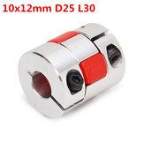 Od25mm x l30mm cnc passo conector acoplador do motor 10mmx12mm alumínio aranha acoplamento do eixo flexível