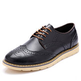Herrenmode Brogue Schnürschuhe Round Toe British Oxfords