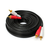 10M/ 33Ft Dual RCA to RCA Audio Video AV Cable For HDTV DVD VCR Stereo
