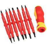 7 قطع متعددة الأغراض معزول أدوات مفك مقبض الكهربائية