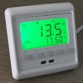 LCD-knop Programmeerbare vloerverwarming kamer Thermostaat vloerverwarming 0-35 ° C