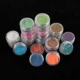 24 Färg Akryl Glitter Nail Art Decoration Stoftpulver Set
