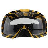 Gogle motocyklowe Okulary żółty pasek przezroczysty obiektyw