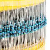 600pçs 30 Tipos Valor 1% 1/4W me<x>tal Película Resistor Kit de Acessórios 20pçs Cada Valor