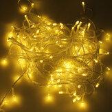500 LED 50m Luz de Cadena de Decoración Blanco Cálido para Festival 220V