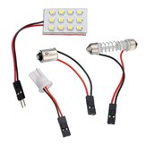 12 LED SMD Panel Interior Room Dome Door Car Light Wedge Bulb
