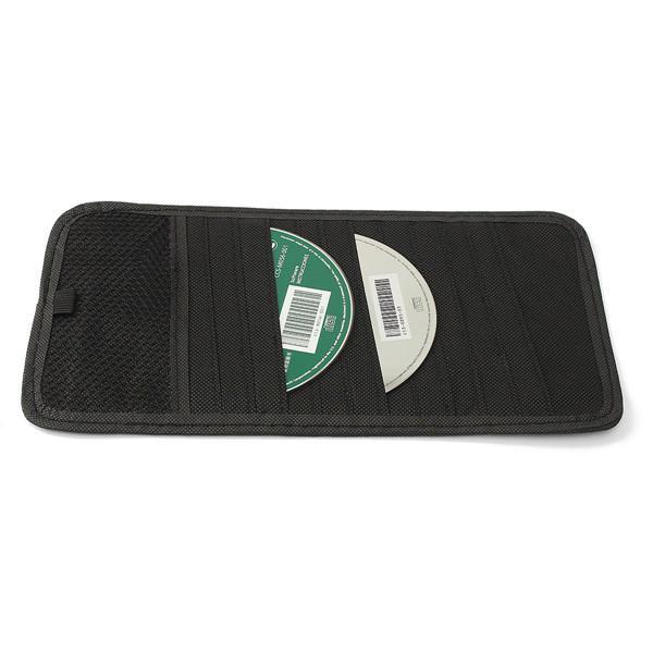 12 Disc Capacity CD Car Sun Visor Storage DVD Holder Black Pocket