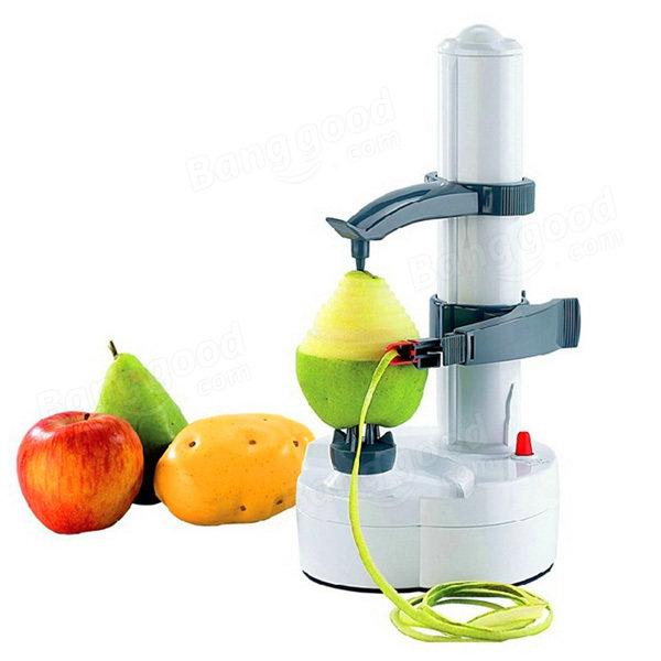 Electric Auto Rotating Potato Peeler Pear Apple Fruit Vegetable Cutter Slicer Kitchen Utensil фото