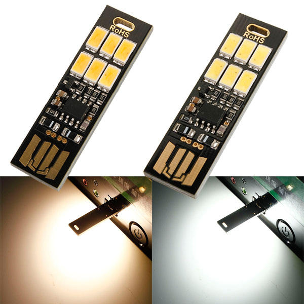 LUSTREON 1W 50LM Mini Touch Switch USB Mobile Power Camping LED Light Lamp