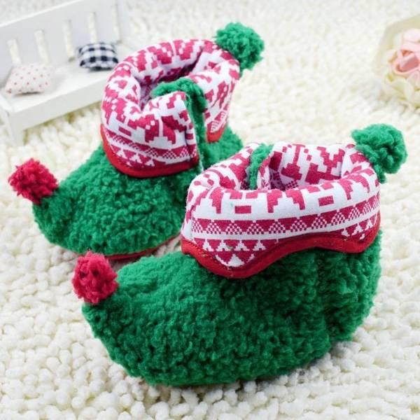 Natale più caldo del bambino del bambino scarpe di stoffa di cotone neonato