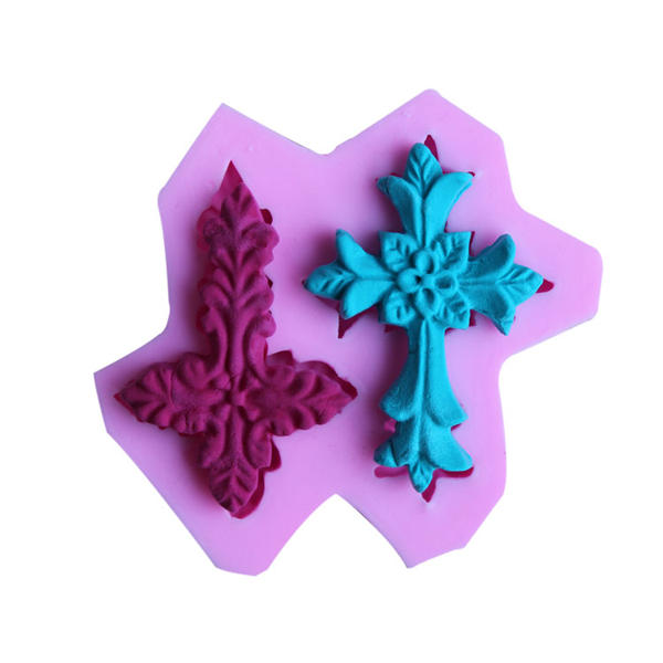 Cross Silicone Fandant Mold Chocolate Polymer Clay Mould фото