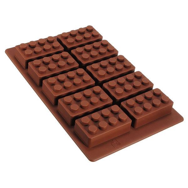 Modelo del ladrillo cubo de hielo del silicón de la bandeja de la jalea del molde del chocolate fabricante